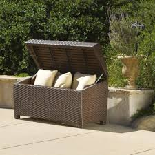 Wicker Storage Bench Bedroom Wonderful Outdoor Wicker Storage Bench Ottoman Bin Jpg