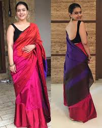 kajol looks in this colorful designer silksaree clubbed with