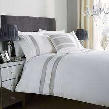 glitz diamante lace duvet cover bedding set all sizes double grey