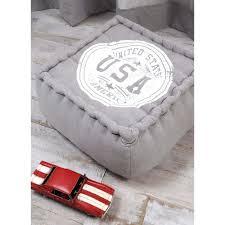 decoration usa pour chambre gris décor usa 40x40x30cm 100 coton portland