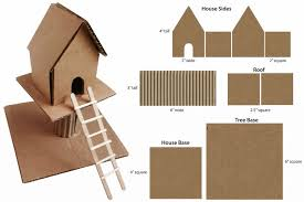 cardboard treehouse art projects for kids