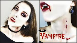 easy vampire bite halloween makeup tutorial last minute vampire
