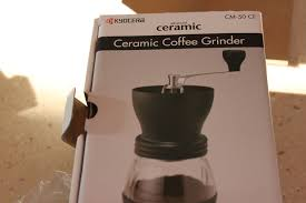 Portable Coffee Grinder Review And Thoughts On The Kyocera Cm50 Ceramic Coffee Grinder