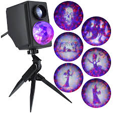 Purple Led Halloween Lights Shop Gemmy Fire And Ice Multi Function Purple Orange Led Multi