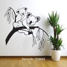popular tree branch wall art buy cheap tree branch wall art lots removable koala tree branches diy wall decals wall sticker nursery vinyls baby wall stickers wall art