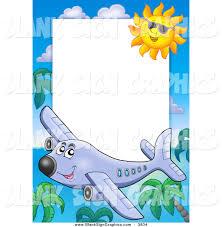 vector cartoon illustration of a happy plane palm tree and sun