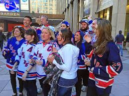 New York Rangers Fans Chanting Lets Go Rangers Outside M Flickr