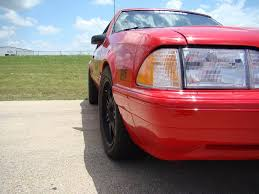 Black Fox Mustang Red Fox Body Coupe Mustang With Flat Black Sve Anniversary Wheels