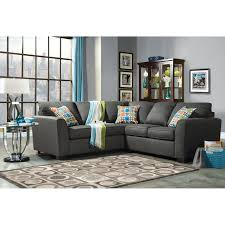 Gray Fabric Sectional Sofa Furniture Of America 2 Fabric Sectional Sofa Gray