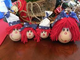 raggedy ann and andy light bulb ornament christmas pinterest