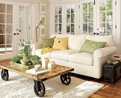wheel coffee table and sofa plus carpet for small living room may