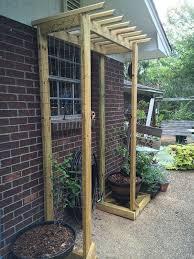 build a garden trellis diy garden trellis gardening design