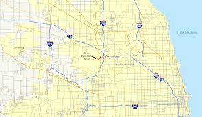 Map Of Chicago Airport File Interstate 190 Illinois Map Png Wikimedia Commons