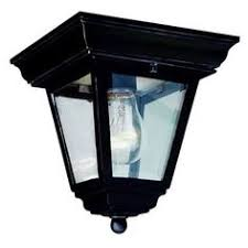 Outdoor Flush Mount Ceiling Light Cambridge Rust Finish 1 Light Flush Mount With Clear Beveled Shade