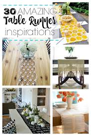 Kitchen Table Runners by Remodelaholic 30 Amazing Table Runner Inspirations