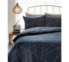 Geometric Duvet Cover Buy Collection Luxe Fineline Geometric Bedding Set Double At