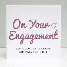 Congratulations Engagement Card Engagement Congratulations Greeting Card Love Give Ink