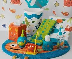 modern cute bathroom sets kids accessories seashell of interior
