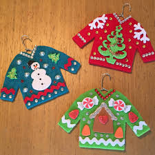 3 sweater ornaments snowman by chiachic