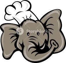 cartoon chef cook baker elephant royalty free stock image