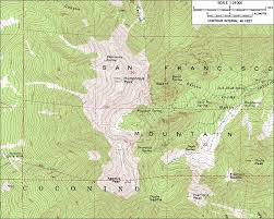 Topographic Map Of Arizona by Skiing The Pacific Ring Of Fire And Beyond Humphreys Peak