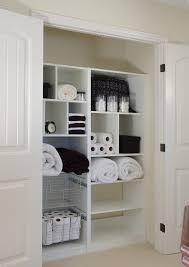 bathroom closet shelving ideas bathroom linen closet closet contemporary with white closet