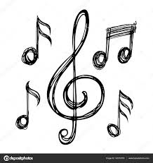 music notes sketches u2014 stock vector alexcosmos 143110783