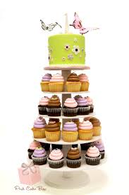 butterfly 1st birthday cupcake stand childrens cakes