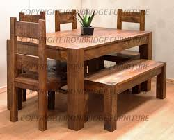 dining room table bench rustic dining table with bench interior exterior doors walnut