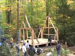 A Framed Houses the sweetgrass joinery co summer house cruck frame raising youtube