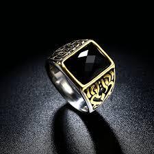 aliexpress buy mens rings black precious stones real aliexpress buy jenia black men wedding ring for