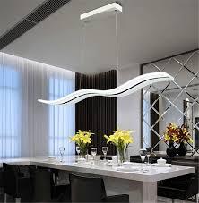 Living Room Pendant Lighting Led Acylic Pendant Light Wavy S Type Modern For Living Room