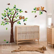Nursery Decor Stickers Baby Nursery Decor Animals Tree Wall Forest Baby Nursery Woodland