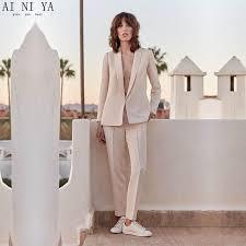 light pink blazer womens light pink 2 piece set womens business suit female trouser suits