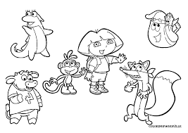 printable dora the explorer coloring pages paginone biz