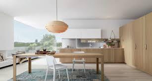 cuisine bois et blanche design interieur cuisine bois et blanc baie angle vue jardin tapis