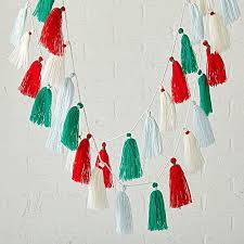 tassel garland tree decorating ideas popsugar