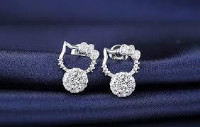 hello earrings platinum plated hello earrings lazada malaysia