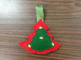 led tree ornament using conductive thread 15 steps