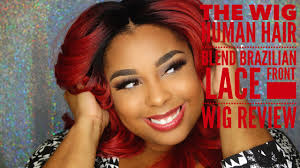 front flip hair the wig human hair blend brazilian lace front wig review youtube