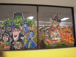 Thanksgiving Window Paintings Drawing Attention Promotional Art U2013 Windows U2013 Caricatures U2013 Murals