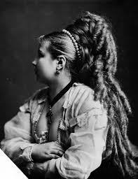hair was said to be a woman u0027s crowning glory the victorians