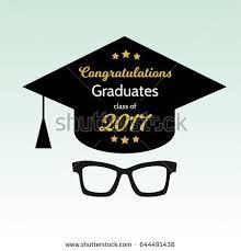 graduation poster graduation poster glasses graduation hat vector stock vector