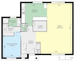plan maison contemporaine plain pied 3 chambres superbe plan de maison plain pied 3 chambres 3 maison