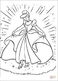 cinderella gown coloring free printable coloring pages
