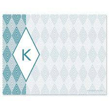pink dots initial note cards current catalog personalized