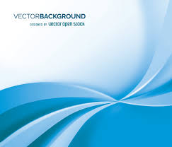 blue backdrop white and blue flowing backdrop vector