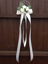 Pew Decorations For Wedding Personalised Wedding Ribbons U0026 Bows Ebay