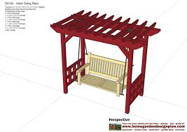 gallery of pergola swing plans free free pergola swing plans home