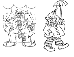 coloring printable clown circus pages kidskat com pdf page